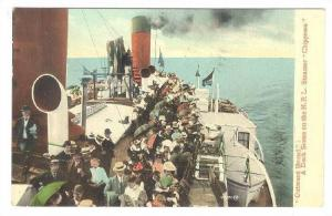 Steamer/Ship, Outward Bound, A Deck Scene On The N.R.L. Steamer Chippewa,...