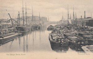 GOOLE , Yorkshire, England , UK , 1911 ; The Barge Dock