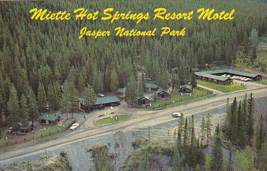 Canada Miette Hot Springs Resort Motel Jasper National Park Alberta