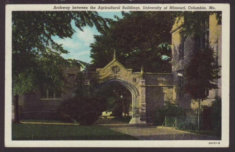Archway,University of Missouri,Columbia,MO Postcard