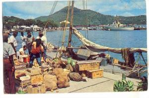 Waterfront scene, St.Thomas, Virgin Islands, PU-1955