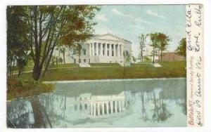Historical Society Building from Lake, Buffalo, New York, 1900s PU