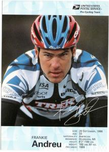 USPS Pro Cycling Team - Post Card - Frankie Andreu - Mint