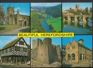 Herefordshire Postcard - Views of Beautiful Herefordshire   LC5290