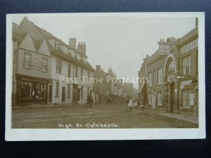 Berkshire COLNBROOK High Street shows GEORGE HOTEL & DRAPERY c1912 RP Postcard