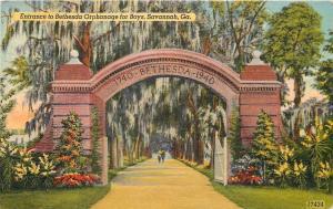 Savannah Georgia~Bethesda Orphanage for Boys Entrance Arch~1740-1940~1947 PC