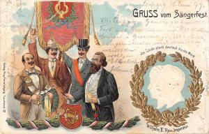 US2603 Gruss aus Sangerfest Wilhelm II Rex Imperator Royalty Litho Germany