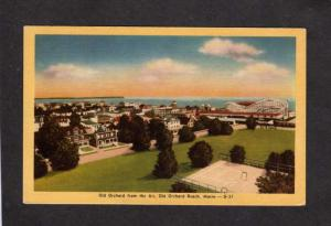 ME Amusement Park Roller Coaster City View Old Orchard Beach Maine Postcard