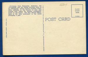 Enterprise Alabama al large letter letters linen postcard