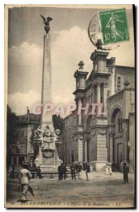 Old Postcard Aix en Provence The Madeleine Church