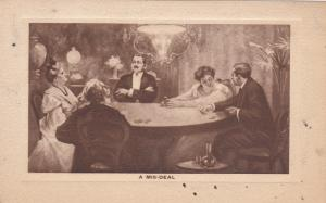 Men and Women playing cards,  A Mis-Deal, 1910