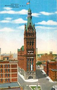 City Hall, Milwaukee, WI,Wisconsin, Linen
