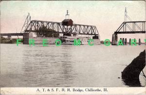 1917 Chillicothe IL PC: Sidewheeler Fred Swain & Bridge