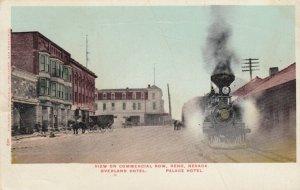 RENO , Nevada , 1907 ; Train along Commercial Row