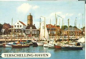 Netherlands, Terschelling-Haven, 1975 used Postcard