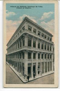 Palacio de Justicia Palace of Justice Santiago de Cuba Cuba 1920s postcard