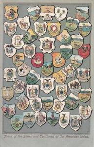 Arms Of The States &  Territories Of The American Union