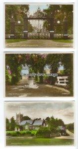 tq0325 - Norfolk - Church, Pergola & Norwich Gates, in Sandringham-  3 postcards