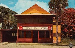 Punta Rossa Florida Grocery Store Coke Sign Vintage Postcard J69900