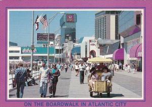 On The Boardwalk In Atlantic City New Jersey 1991