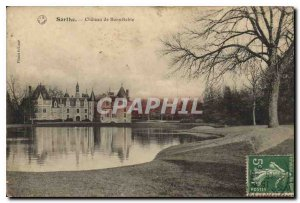 Old Postcard Sarthe castle Bonnetable