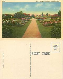 Circle Park, Deerings Oaks, Portland, Maine, MA, Linen