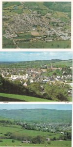 Lampeter Wales 1980s Welsh Rare 3x Aerial Postcard s