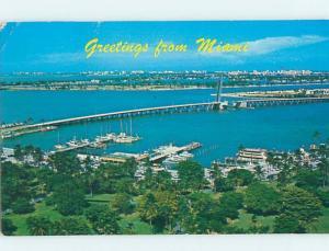 Pre-1980 GREETINGS FROM POSTCARD Miami Florida FL ho5561