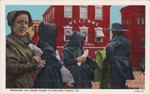 Mennonite And Amish People Of Lancaster County Pennsylvania