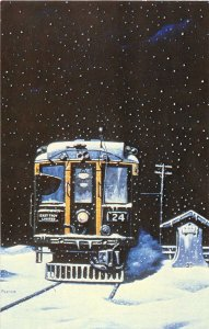 Milwaukee Electric Railway Interurban Wisconsin Russ Porter artist postcard