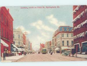 Divided-Back STREET SCENE Springfield Illinois IL W2247