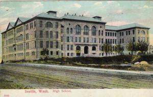 Exterior, High School,Seattle, Washington,PU-1909