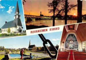 Rovaniemi Suomi Finland, The Church Kirkko Kyrkan Bridge Sunset