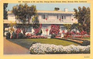 Mr. and Mrs. George Burns (Gracie Allen) Beverly Hills, California USA Unused