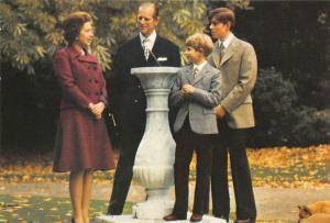 The Queen and The Duke of Edinburgh with Prince Andrew and Prince Edward