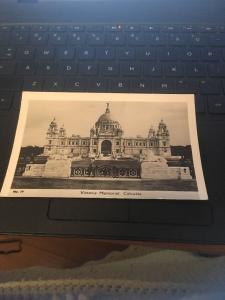 Vtg Postcard: Victoria Memorial, Calcutta India