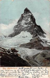 Switzerland Das Matterhorn, Mountain Peak Gebirge 1906