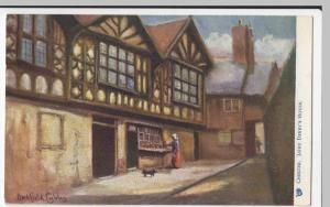 Cheshire; Chester, Lord Derby's House, Artist Hadfield Cubley PPC Unused Oilette