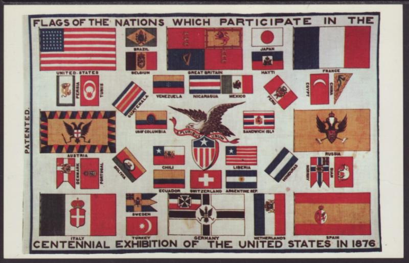 Flags of the Nations at Centennial Exhibition Postcard