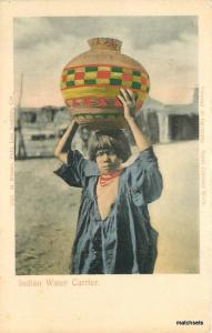 C-1910 New Mexico American Hand Colored Water Carrier Rieder postcard 11557