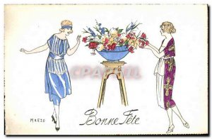 Old Postcard Fantasy Illustrator Marzo Women