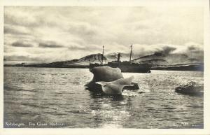 norway, SPITSBERGEN SVALBARD, Green Harbour, Steamer (1930s) RPPC
