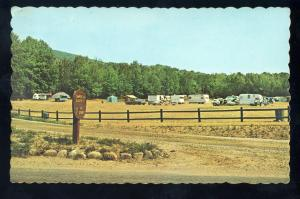 Camden, Maine/ME Postcard, Mount Battie Camp Grounds, Camping Trailers