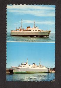 Camada Quebec Ferry Ships Boats Sieur Damours N A Comeau Matane Godbout QC Carte