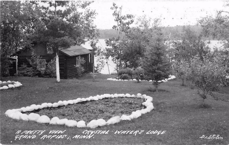 1946 Grand Rapids Minnesota Crystal Waters Lodge RPPC real Photo Cook 6735