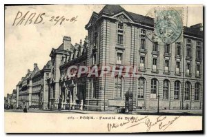 Postcard Old Paris Faculty of Law