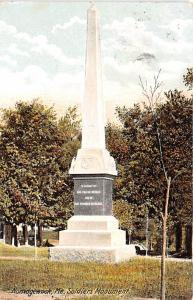 Military Post Card Old Vintage Antique Postcard Soldiers Monument, Norridgewo...