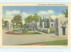 Linen MILITARY SCENE Jefferson Barracks - St. Louis Missouri MO AF8278
