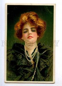 187164 BELLE Woman w/ bead by Philip BOILEAU Vintage H&S PC