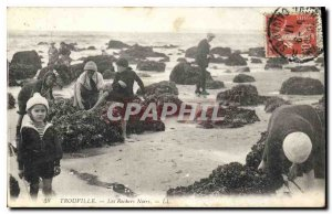 Old Postcard Trouville The Black Rocks